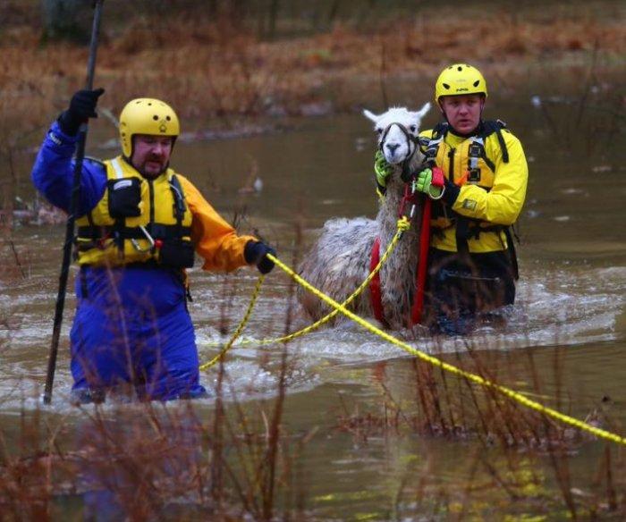 Severe weather slams U.S. coasts with rain, floods, waves of 'certain death'