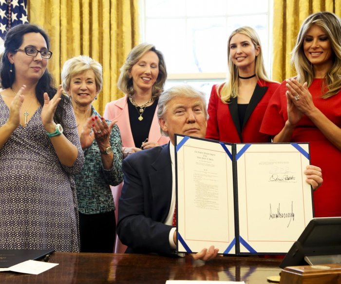 Trump signs bills promoting women in STEM, rescinding Obama gun rule