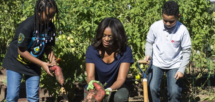 Fall garden harvest at the White House