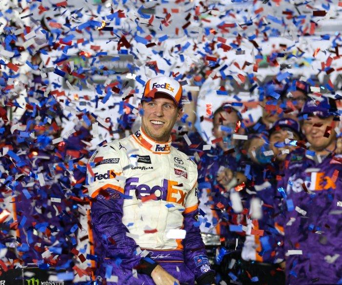 Denny Hamlin wins second consecutive Daytona 500