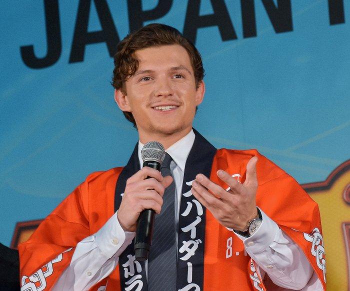 Tom Holland attends 'Spider-Man' premiere in Tokyo