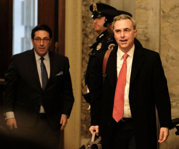 Trump defense ends arguments, urges end to impeachment trial