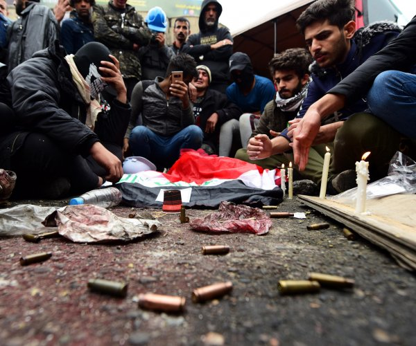 Attack on Iraqi protesters leaves at least 12 dead