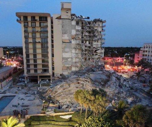 1 dead in Miami-area condo collapse; boy pulled from debris