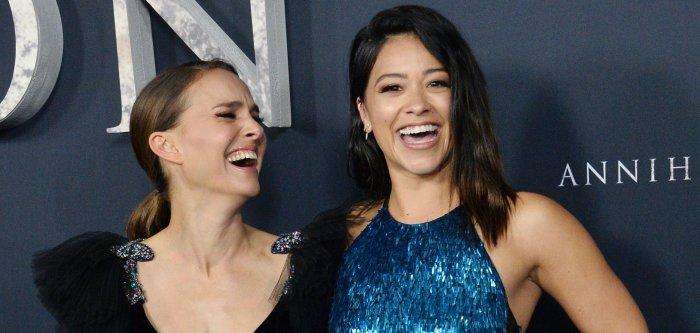 Natalie Portman, Gina Rodriguez attend the 'Annihilation' premiere