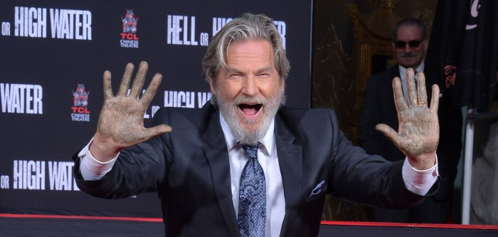 Jeff Bridges handprint ceremony at TCL Chinese Theatre
