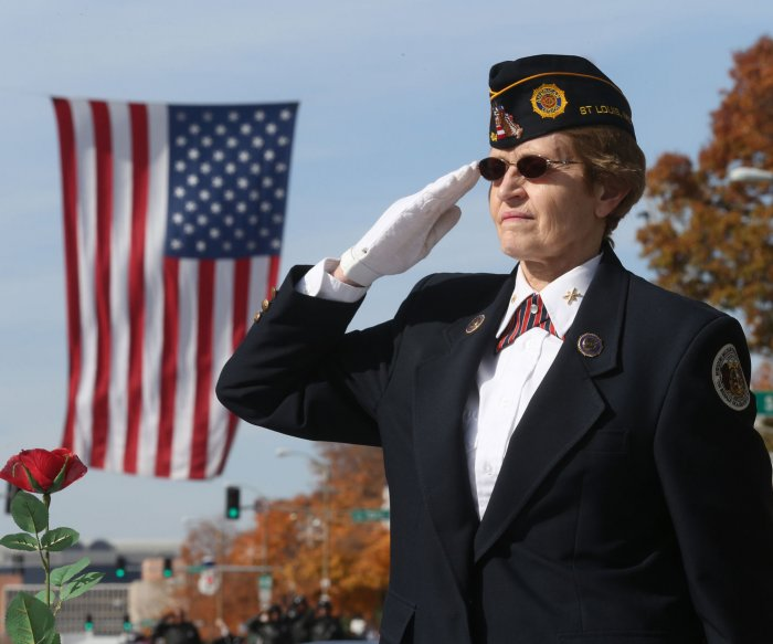 Saluting the troops on Veterans Day