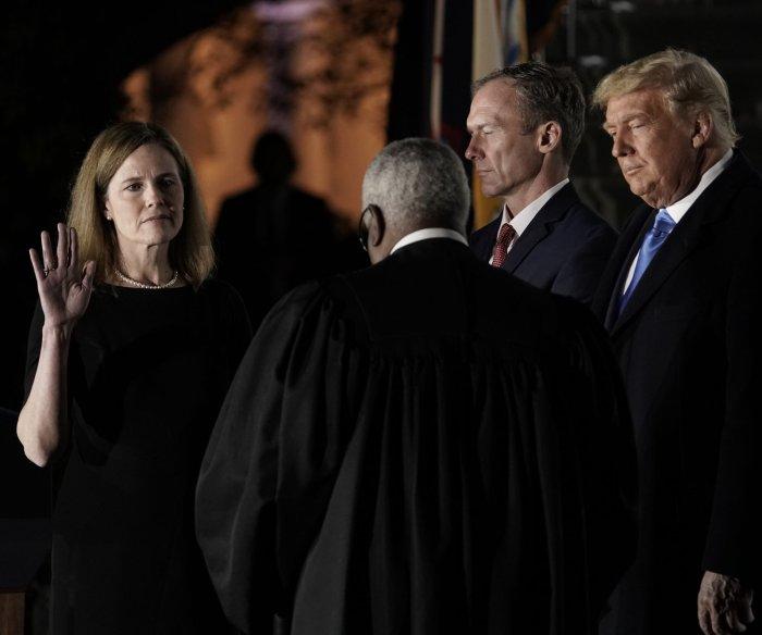 Judge Amy Coney Barrett sworn in to U.S. Supreme Court