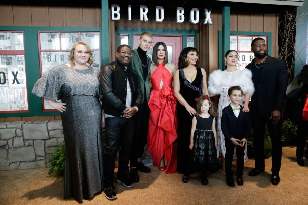 Sandra Bullock, Trevante Rhodes attend 'Bird Box' screening