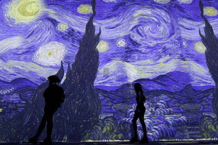 Scenes from immersive Van Gogh exhibit in NYC