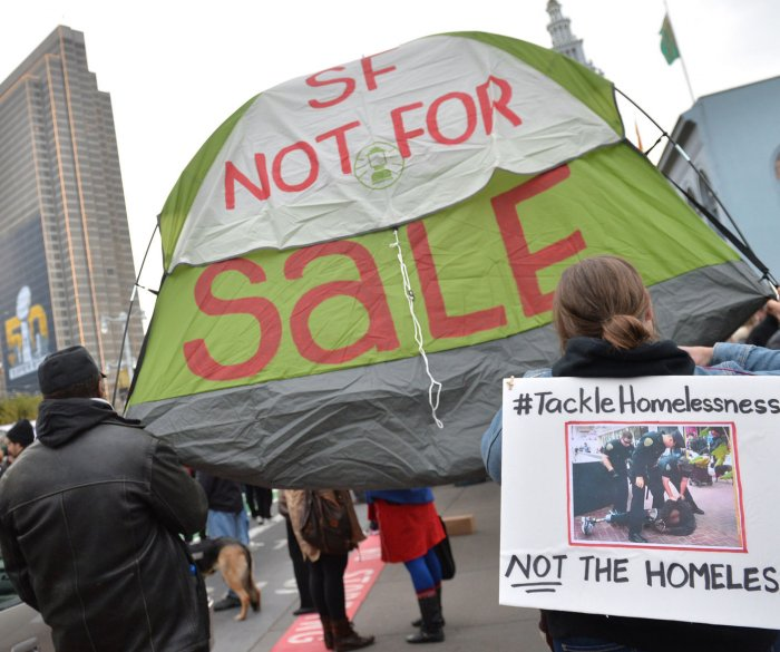 Homeless protest displacement for Super Bowl