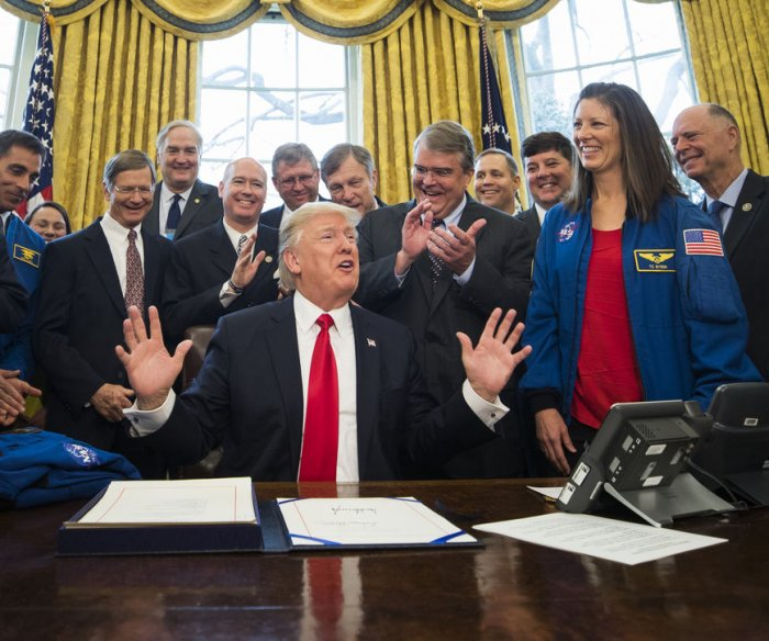 Trump places emphasis on exploration in new NASA funding