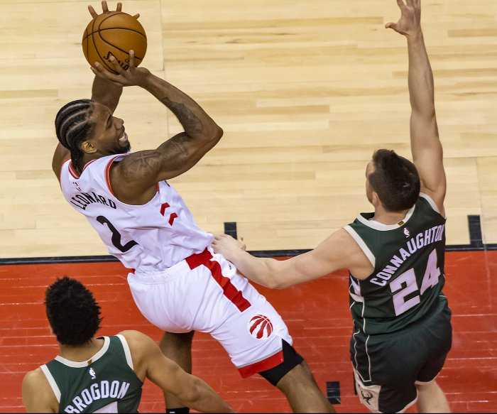 Raptors beat Bucks again to even Eastern finals at 2-2