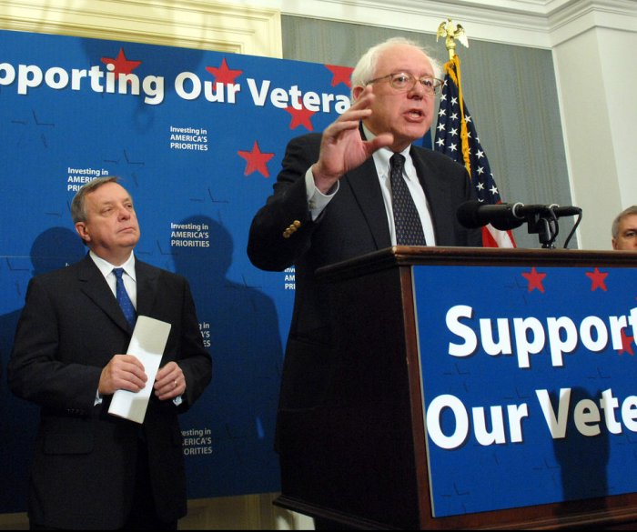 Bernie Sanders unveils $62B plan to expand Veterans Affairs Dept.