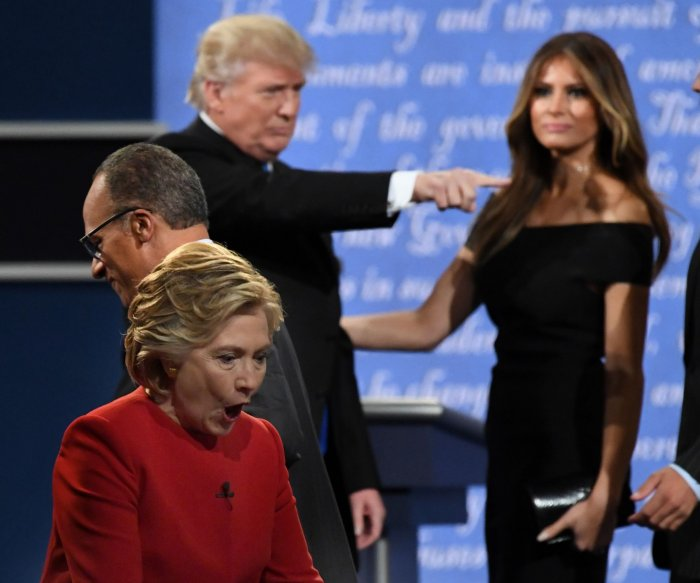 Hillary Clinton, Donald Trump share stage at first presidential debate