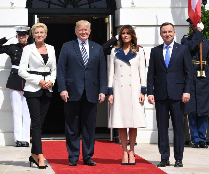 Polish President Andrzej Duda visits White House