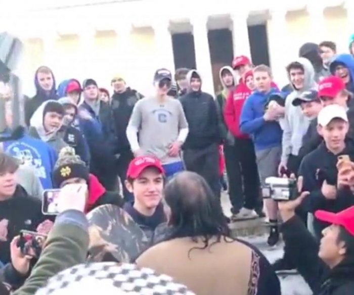 Students confronting Native Americans in D.C. march could be expelled