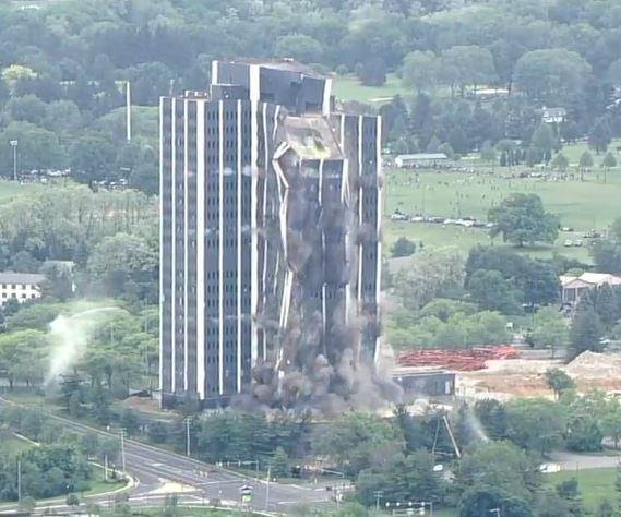 Watch: 21-story tower implodes in 14 seconds in Bethlehem, Pa.