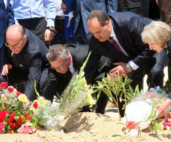 3 European interior ministers visit attack site in Tunisia