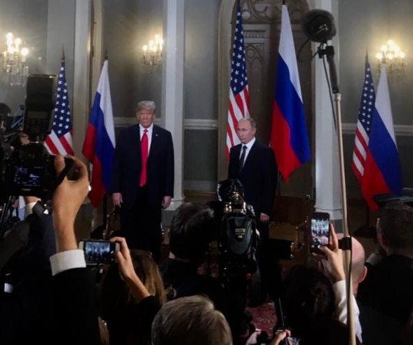 Presidents Donald Trump, Vladimir Putin meet at Finland summit