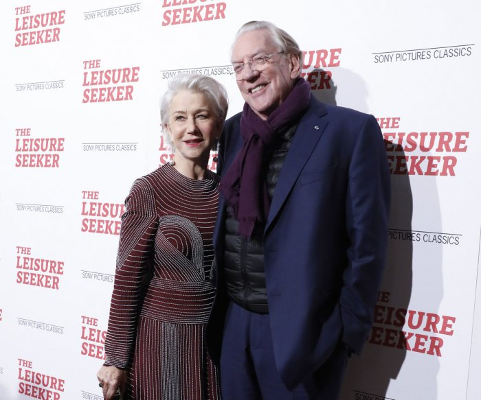 Helen Mirren, Donald Sutherland attend screening of 'The Leisure Seeker'