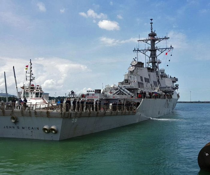 10 sailors missing after U.S. warship collision; Navy orders 'operational pause'