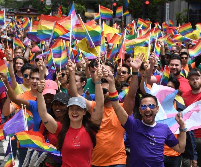 Gay pride celebrations take place in New York and San Francisco