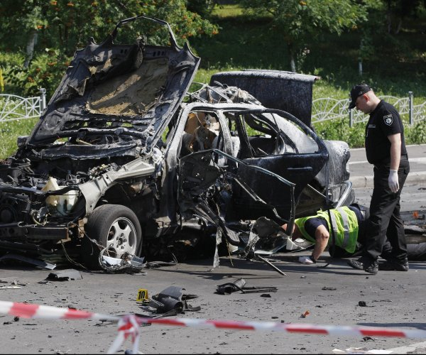 Ukrainian military official killed in Kiev car bombing, officials say