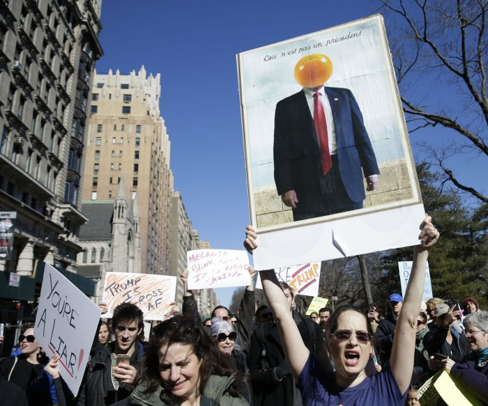 'Not My President's Day': Trump protests cross U.S.
