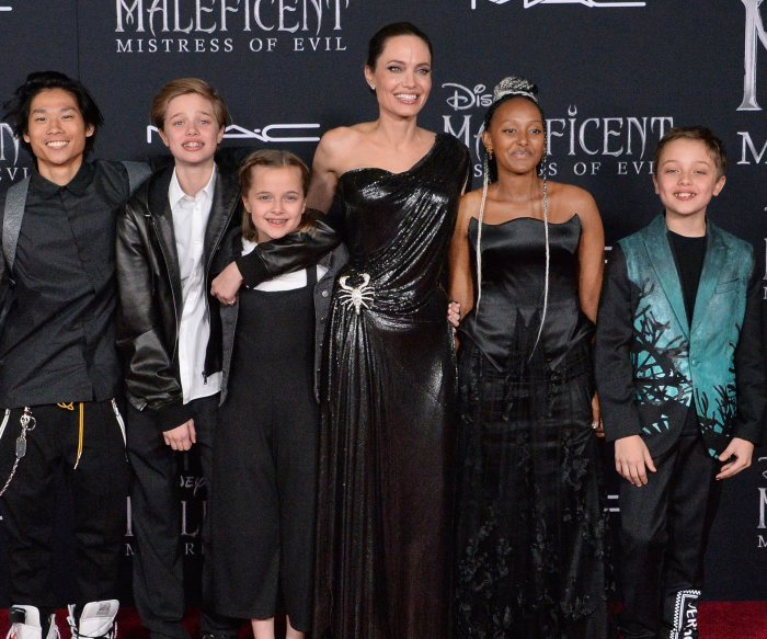 Angelina Jolie and children attend 'Maleficent: Mistress of Evil' premiere