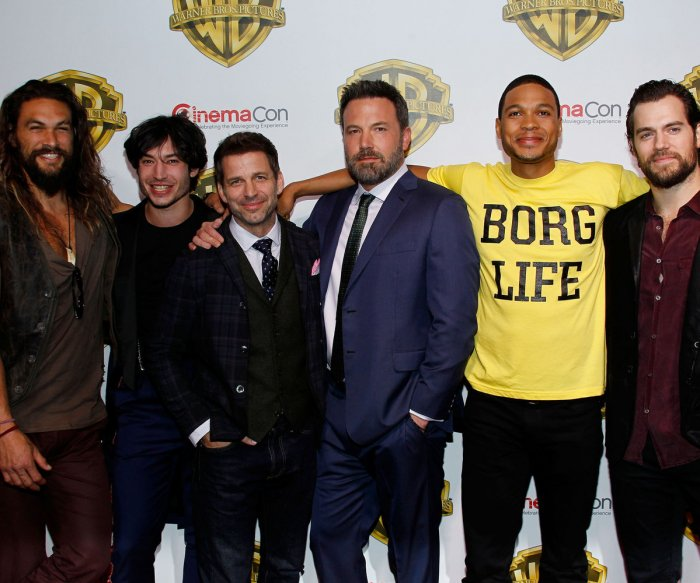 On the red carpet at the Warner Bros. presentation at CinemaCon