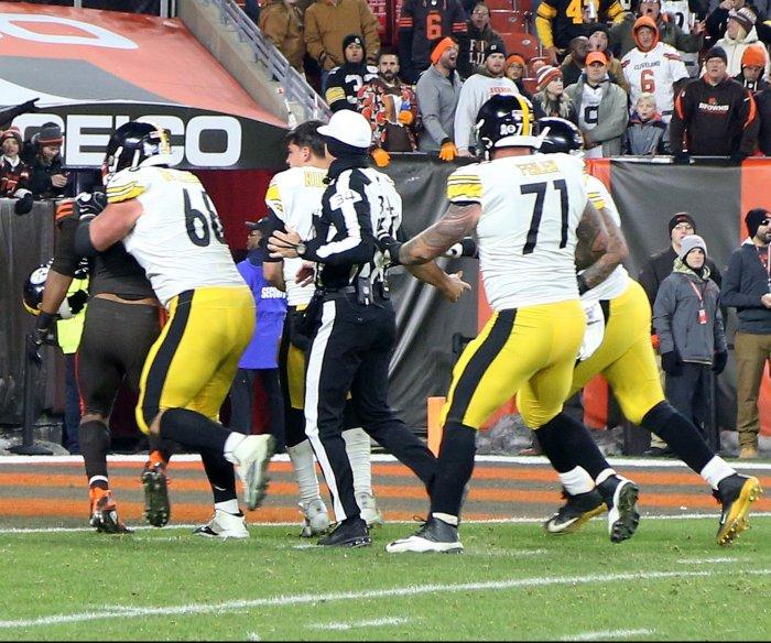 NFL bans Myles Garrett for season, fines Browns and Steelers $250K each