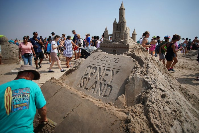 National Sand Castle Day: Coney Island sculptors compete