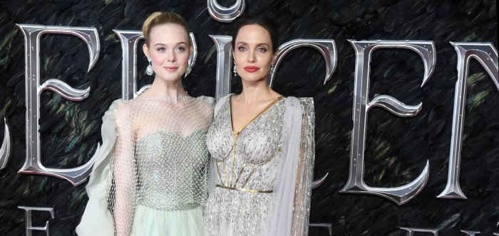 Elle Fanning, Angelina Jolie attend London 'Maleficent: Mistress of Evil' premiere