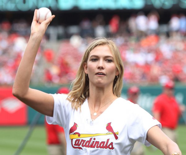 Celebrities throwing ceremonial first pitches
