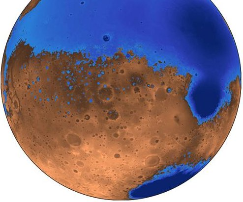 Mars oceans older, shallower than first believed
