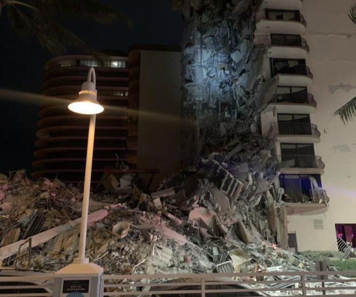 Authorities respond to partial building collapse near Miami