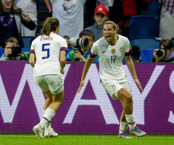 World Cup soccer: U.S. women top Sweden 2-0 to clinch Group F