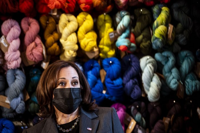 Vice President Kamala Harris meets with small business owners