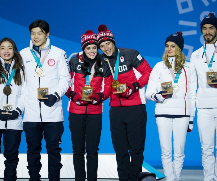 2018 Winter Olympics: Ice dancing medalists