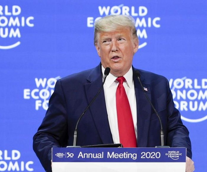 Trump touts U.S. economy, commits to trees initiative at Davos