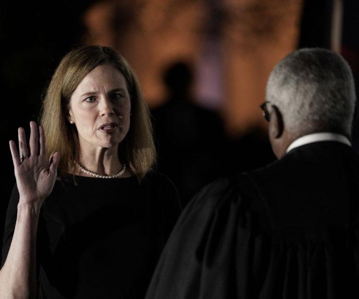Amy Coney Barrett sworn in to the U.S. Supreme Court