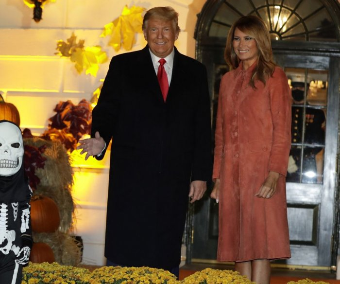 Trumps celebrate Halloween at the White House