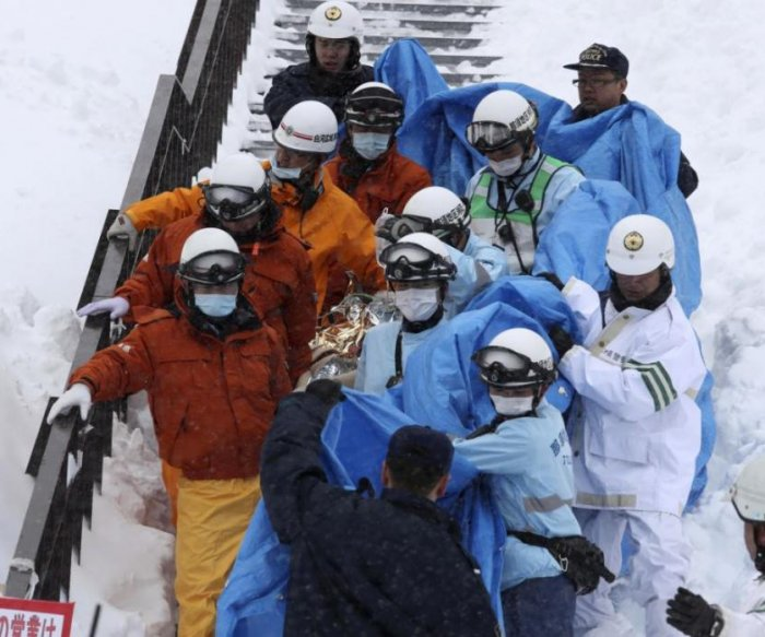 Eight students dead after avalanche at Japanese ski resort