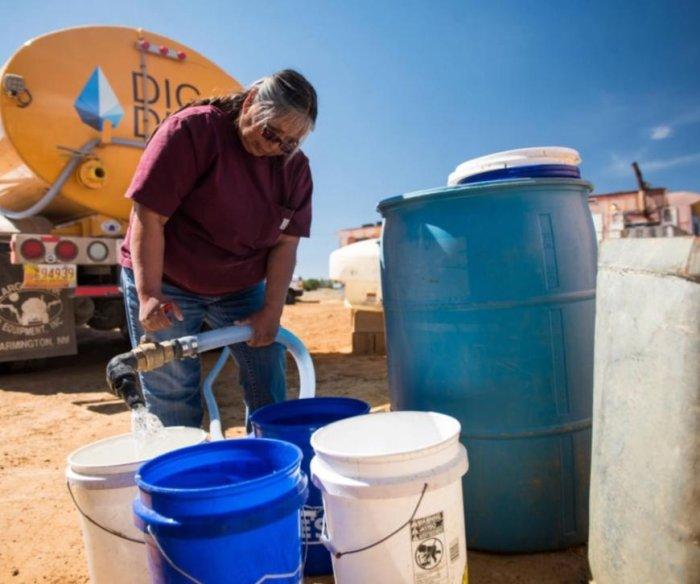 Solar-powered cisterns bring running water to Navajo homes