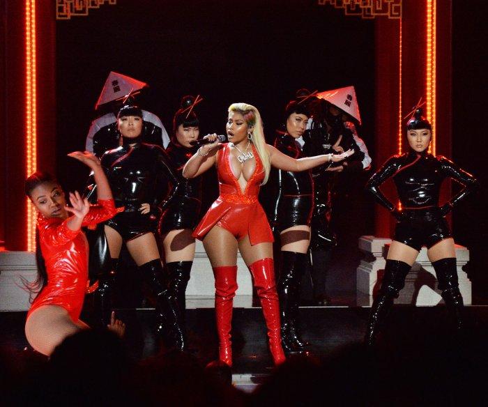 Nicki Minaj, Meek Mill perform at the BET Awards