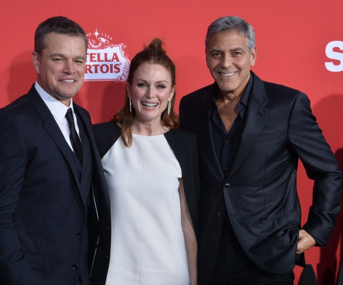 George Clooney, Matt Damon, and Julianne Moore attend 'Suburbicon' premiere in LA