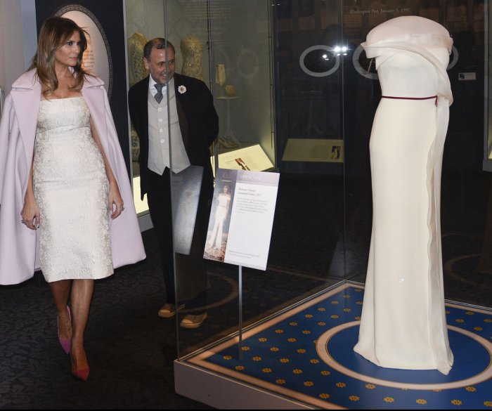 Abigail Adams to Melania Trump: First lady inaugural gowns through history