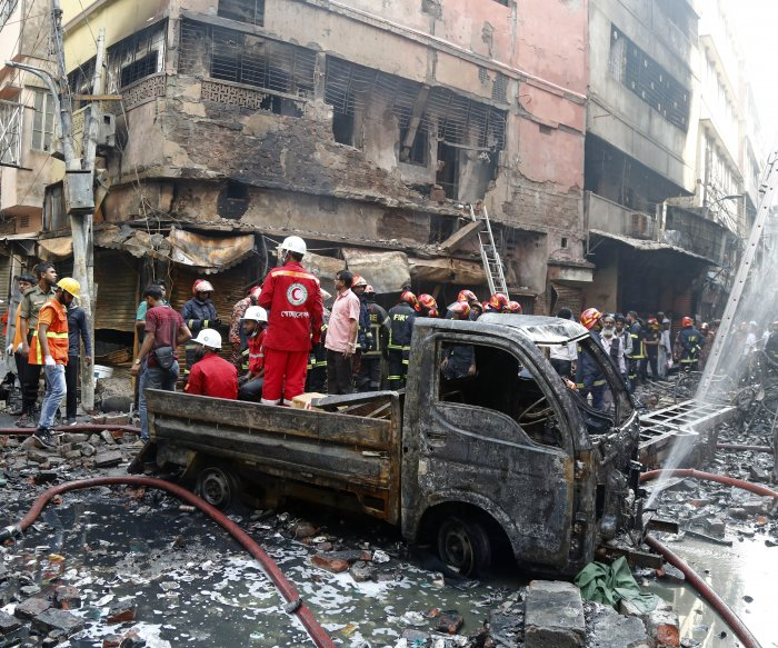 Police seek suspects for Bangladesh fire