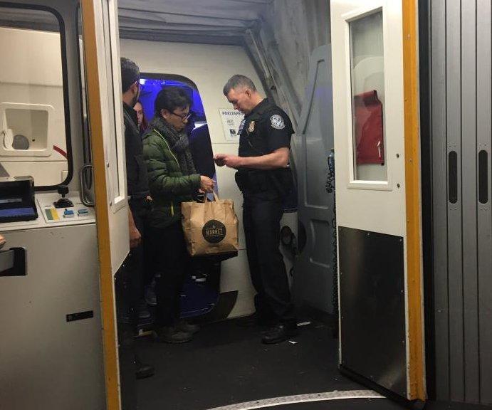 Border patrol checks IDs of domestic flight passengers in NYC